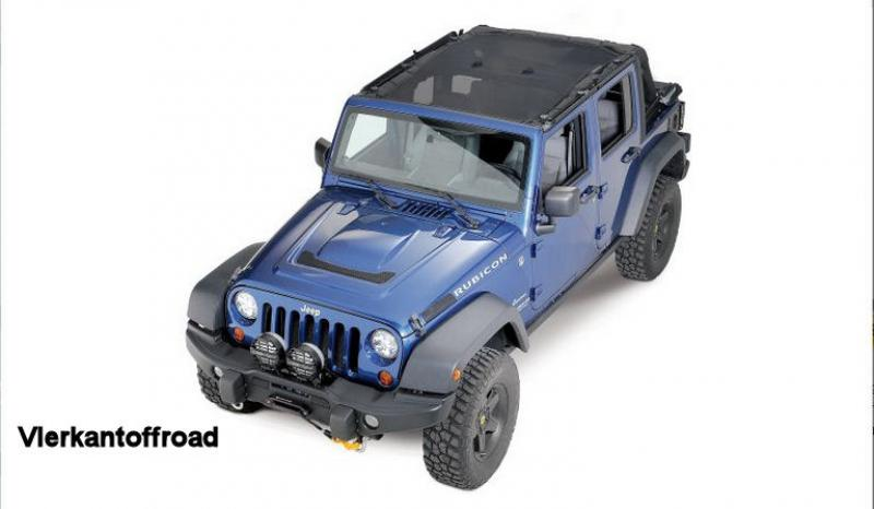 Bikinitop sun protection for Jeep Wrangler JK 4-door 07-17