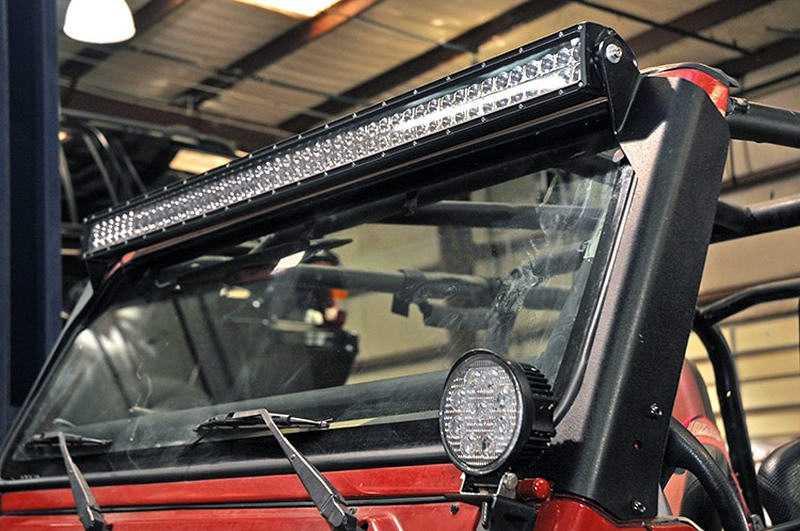 Vierkant Offroad Holder Set Holder For Led Light Bar 50 Jeep Wrangler Tj On The Window Frame