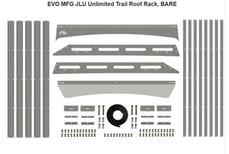 Dachträger Trail Roof Rack EVO Jeep Wrangler JL 4DR 2018-