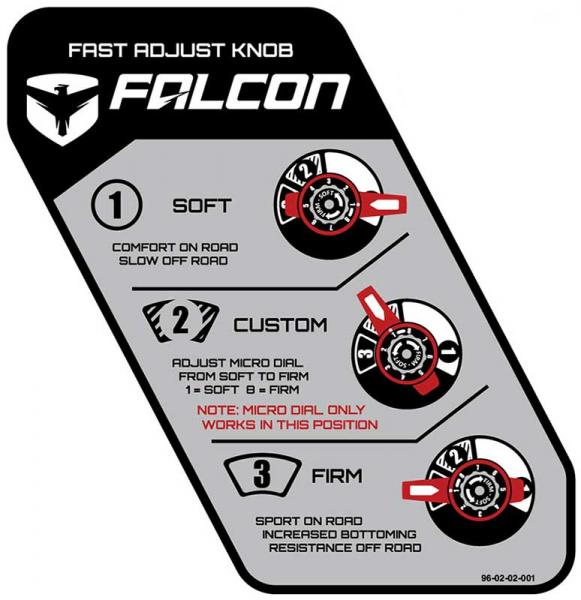 Falcon shock absorber 3.3 Reservoir set Wrangler JK 4-door 3-4,5""