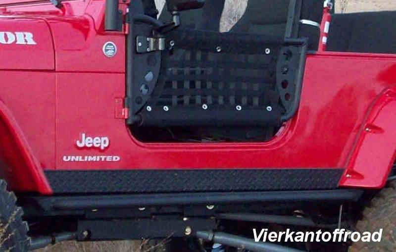 Sill protection black for Jeep Wrangler JK 2-door from 07-