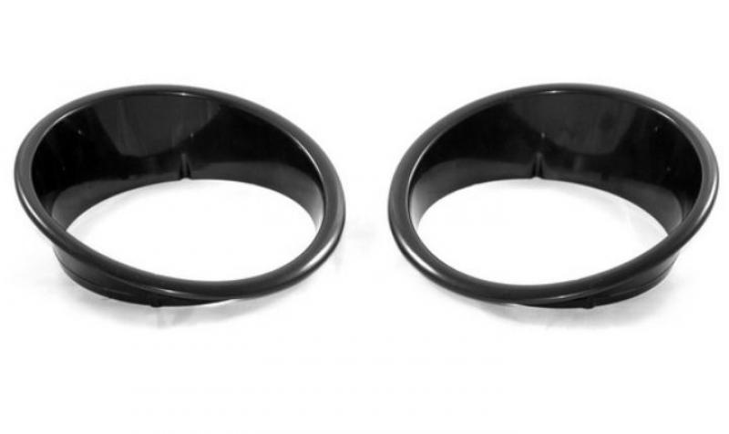 Scheinwerferring Blende Headlight Bezels Black schwarz Jeep Wrangler JK ab 07-