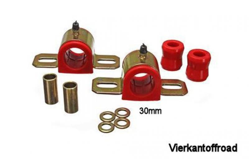 Stabibuchsensatz vorne Wrangler TJ 97-06 Bushing Front Sway Bar Set Jeep 30mm Red